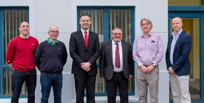 Kelsius meeting TD Pearse Doherty and Councillor John Sheamais O'Fearraigh